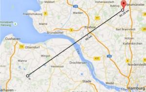 Entfernung-zum-Sender